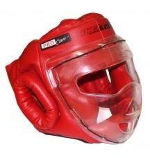 Шлем-маска для рукопашного боя красная ПРО разм.S