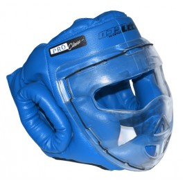 Шлем-маска для рукопашного боя синяя ПРО разм.S